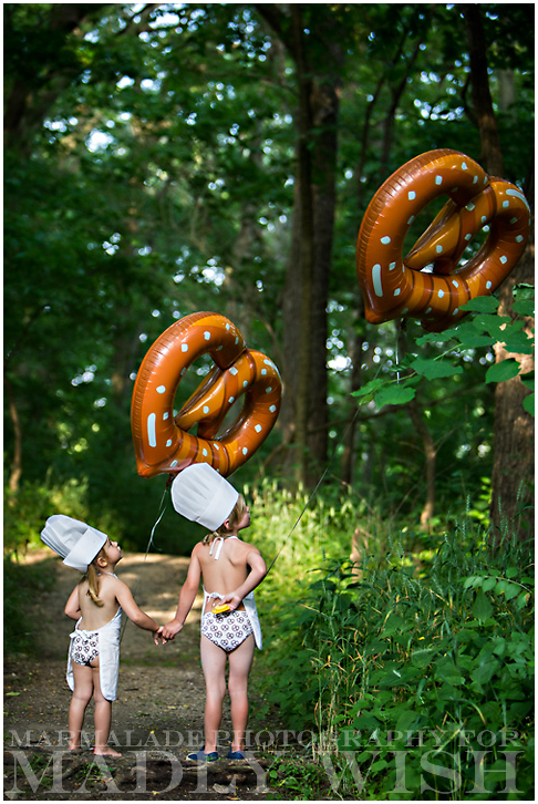 "From the Madly Wish ""In A Twist"" underwear shoot, a photo of two young children playing in the forest in their Madly Wish underwear"