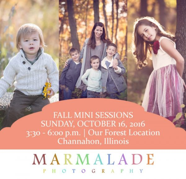 Announcement for fall mini sessions 2016