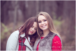 An example of a photo of two sisters