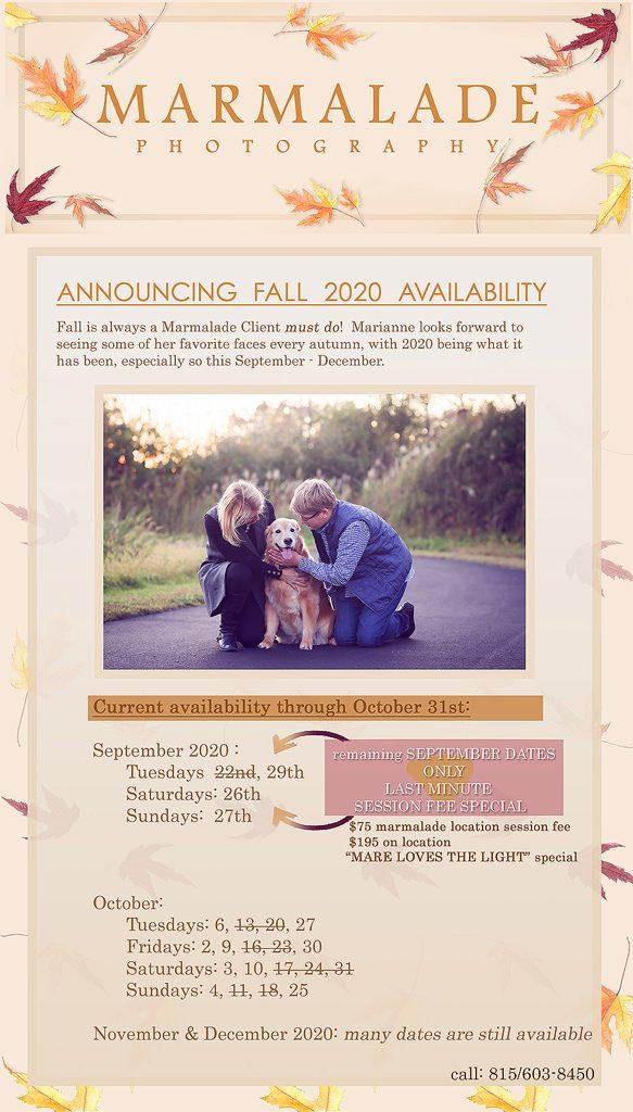 Fall 2020 Availability Marmalade